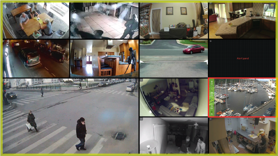 Surviellance Camera Streaming UI Showcase
